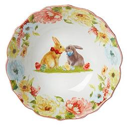 Secret Garden Spring Blooms Porcelain Scalloped Easter Bunni