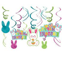 Happy Easter Hanging Swirl Decorations Party Supplies Dangle