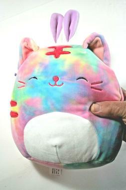 Squishmallows Easter Batch# 2020, 9 Inch Plush Rainbow Cat w