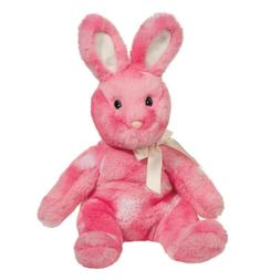 "Strawberry Plush Stuffed Animal Bunny Rabbit 10"" Pink Doug"