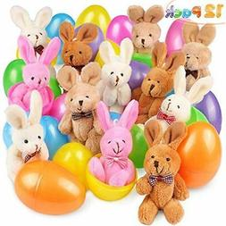 Stuffed Animals & Teddy Bears 12 PCs Filled Easter Eggs With