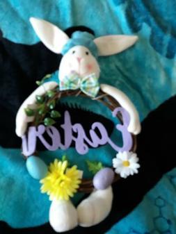 Stuffed Bunny Indoor Easter Wreath