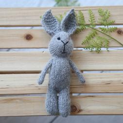 Teddy Bunny Photo Prop Knit <font><b>Stuffed</b></font> <fon