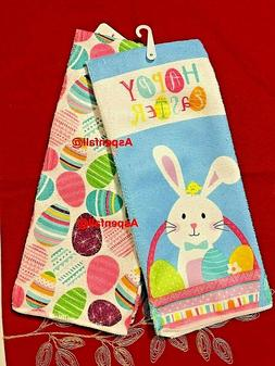 CUTE  Easter Bunny & Easter Eggs Decorative Kitchen Towels S