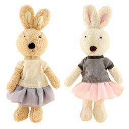 JIARU Toy Bunny Rabbits Stuffed Plush Animals,12 Inches,2PCS