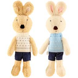 JIARU Toy Rabbits Stuffed Plush Animals Bunny,12 Inches,2PCS