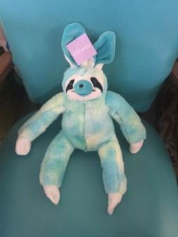 "Turquoise And Yellow Sloth Easter Bunny Soft Plush 18"" Ani"