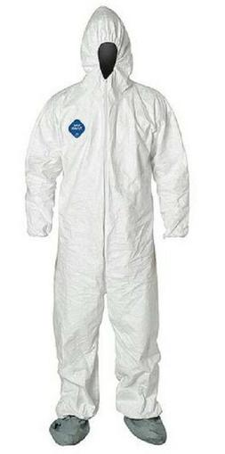 Dupont TY122S White Tyvek Disposable Coverall Bunny Suit Hoo