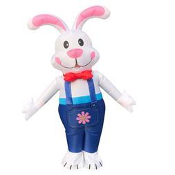 US Seller Easter Bunny Rabbit Inflatable Costume Cosplay Adu
