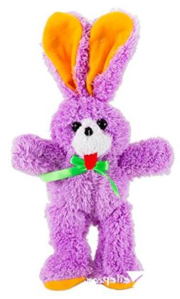 "US Toy Fluffy Ribbon Easter Bunny Toy Gift 12"" Plush Animal,"