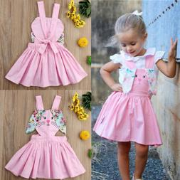 USA Newborn Baby Girls Flower Easter Bunny Tutu Dress Pagean