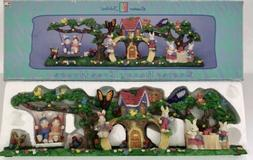 Vintage Easter Bunny Jubilee Tree House Easter Decoration wi