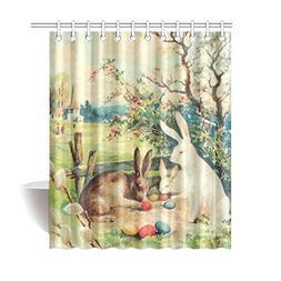 InterestPrint Vintage Hares Rabbit Home Decor, Easter Bunnie