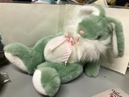 Vintage Dan-Dee International Rabbit Bunny Green White SO CU