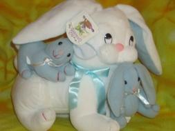 Vintage Dan Dee Soft Expressions Mom Baby Toy Plush Easter B