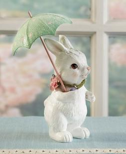 Vintage Springtime Easter Spring Showers Figurine - Bunny