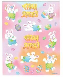Vintage Amscan Sticker, HAPPY EASTER BUNNY, 1 Sheet, Scrapbo