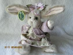 Vntg Bearington Easter Bunny Dress Sweater Hand Crafted Join