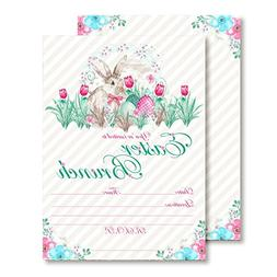 Amanda Creation Watercolor Easter Brunch Fill in Style Invit