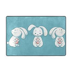 ColourLife White Easter Bunny Holding Egg Lightweight Area S