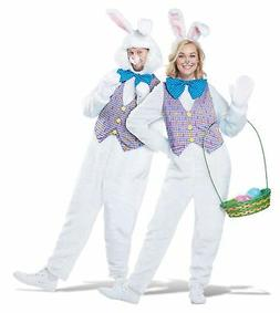 White Easter Bunny Rabbit Mascot Adult Costume Vest Comes Wi