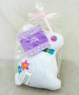 White Easter Bunny Rabbit Pet Squeeky Dog Toy Plush Figure S