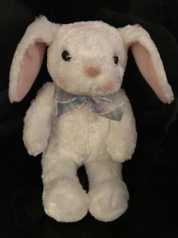 Hallmark White Easter BUNNY RABBIT w/Bow Stuffed Animal Plus
