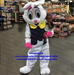 White Long Fur Easter Bunny Osterhase Rabbit Hare Mascot