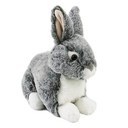 Houwsbaby Wildlife Gray Rabbit Stuffed Animal Realistic East