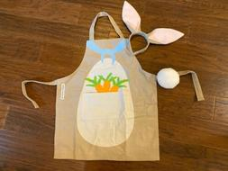 williams sonoma Easter Bunny Kids 3 pc Apron Bunny Pom Pom T