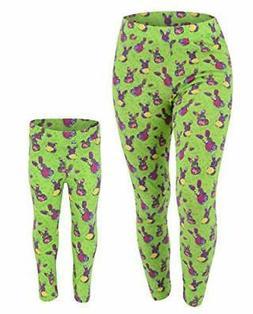 Womens Floral Easter Bunny Leggings 2t 3t 4t 5 6 7 8 Toddler