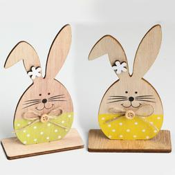 Wooden Easter Bunny Ornament Desktop Favors Baby Shower Wedd