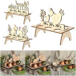 wooden easter egg rack stand holder hen