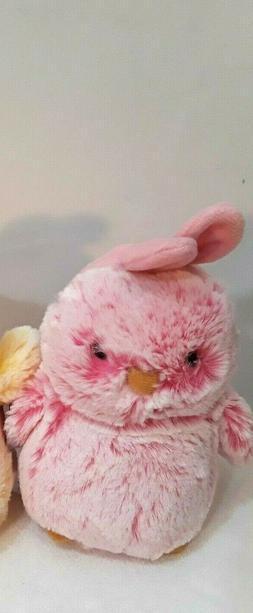 "Aurora World Chicks stuffed  Plush - 7"" pink  Easter Chicks"