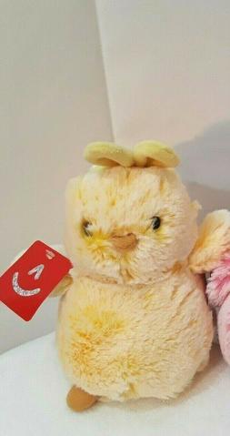 "Aurora World Chicks stuffed  Plush - 7""  yellow Easter Chick"