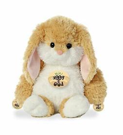 Aurora World Peek a Boo Tan Easter Bunny Stuffed Animal, Tan